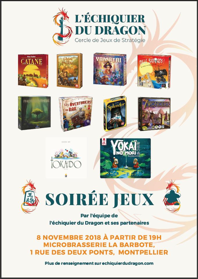 8 novembre 2018 – Soirée Jeux à la Barbote
