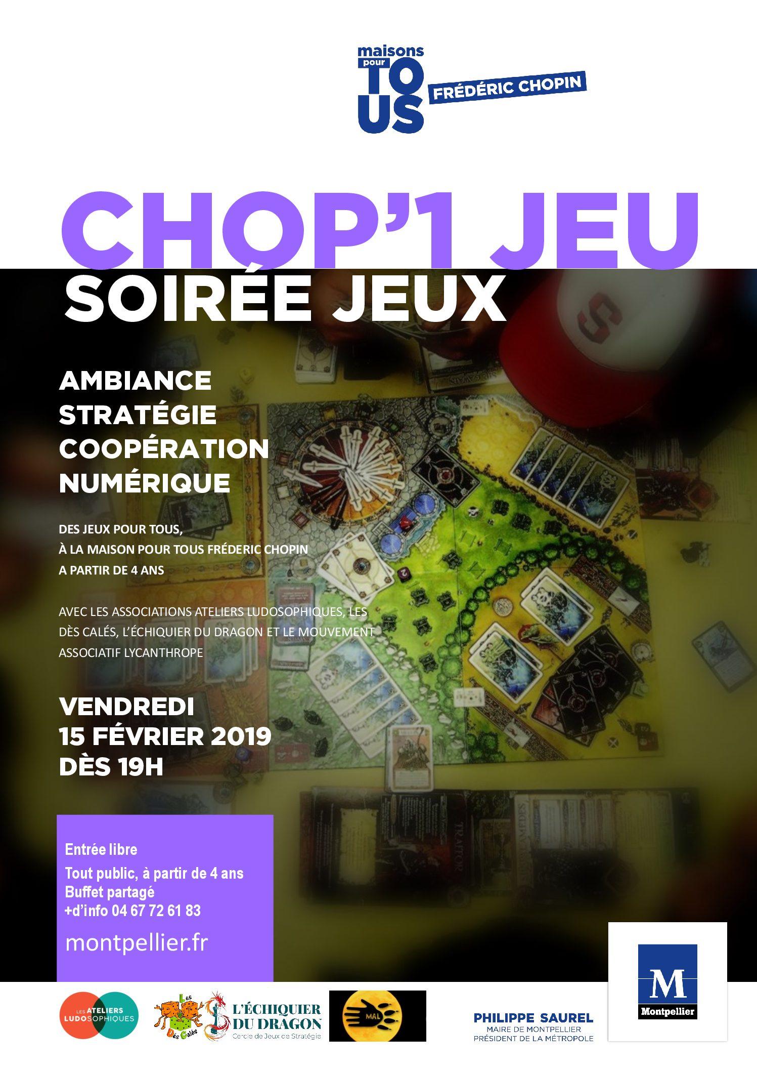 CHOPIN – CHOP'1 JEU – 15 02 2019 AFFICHE