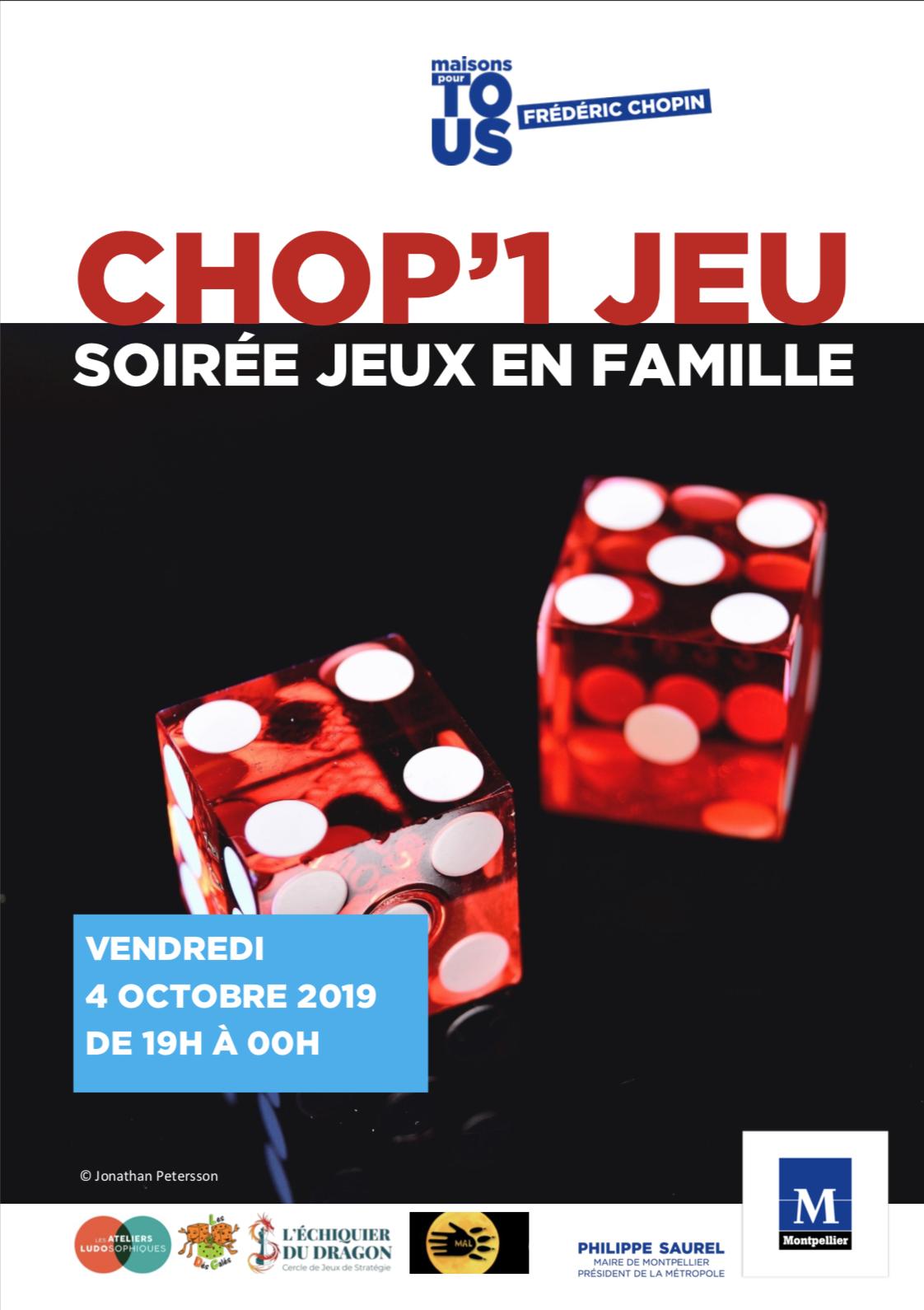 Chop'1 Jeu : soirée jeux – 4 octobre 2019